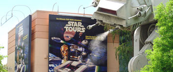 Hayden Christensen and George Lucas rumored appearance at Star Tours 2 Official Opening.