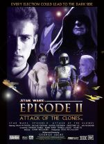 Poster: Hayden Christensen, Natalie Portman, Ewan McGregor star in Star Wars Ep III Attack of the Clones.