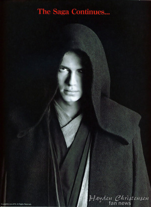 Hayden Christensen as Anakin Skywalker / Darth Vader in Star Wars.