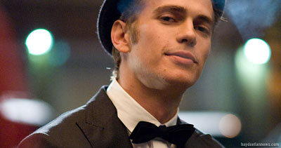 Hayden Christensen as AJ in Takers.