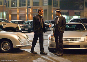 Hayden Christensen and Paul Walker in a scene from Takers in theaters August 27, 2010