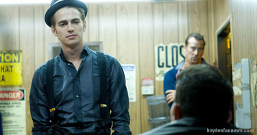 Hayden Christensen in a scene from the movie Takers.