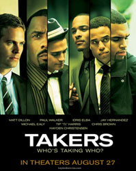 New Takers poster with Hayden Christensen