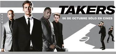 Takers crew Hayden Christensen, Idris Elba, Paul Walker, T.I. in Takers