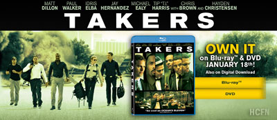 Hayden Christensen in Takers on Blue-Ray and DVD January 18, 2011.