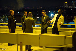 Takers crew Hayden Christensen, Idris Elba, Paul Walker, T.I. discusses heist plans