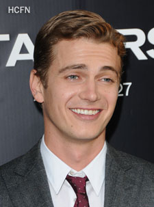 Hayden Christensen - smiles for photographers at Takers Premiere