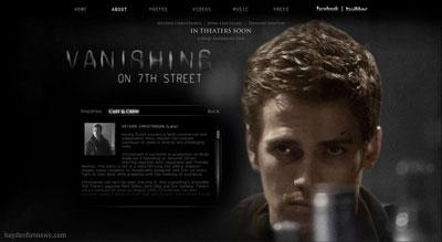 Vanishing on 7th Street starring Hayden Christensen.