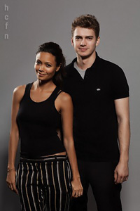 Hayden Christensen and Thandie Newton at TIFF 2010.