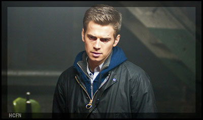 Hayden Christensen having deep thoughts in a scene from Vanishing on 7th Street.